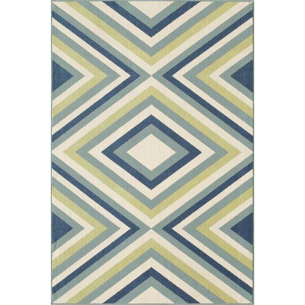 Wexler Blue/Green Indoor/Outdoor Area Rug by Wrought Studio