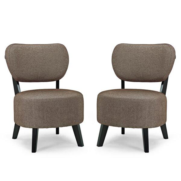 Klinger Slipper Chair (Set of 2) by Ebern Designs