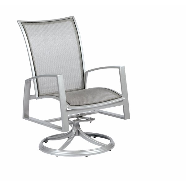 Wyatt Flex Sling Swivel Rocker Patio Dining Chair by Woodard