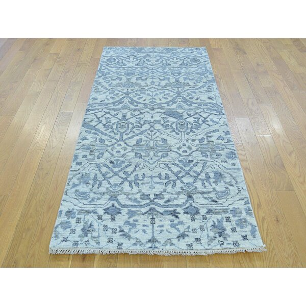 One-of-a-Kind Bearer Undyed Natural Hand-Knotted Ivory Wool Area Rug by Isabelline