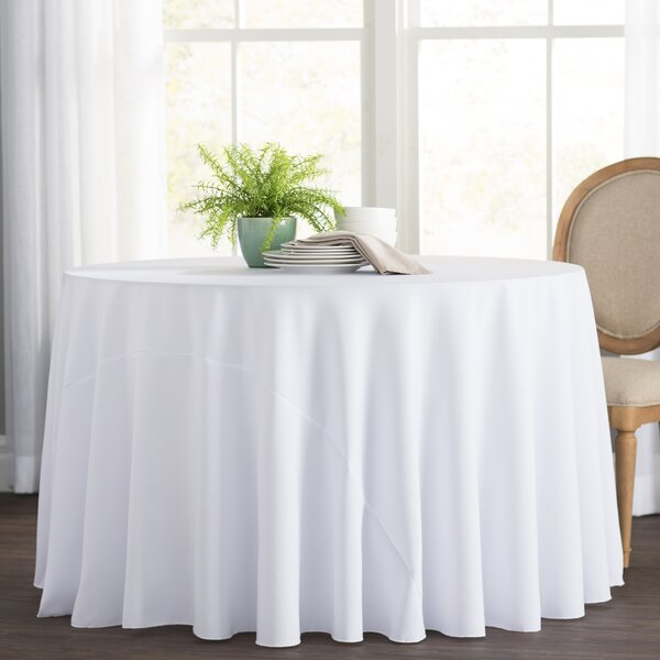 Oval Coffee Table Runner: Wayfair Basics™ Wayfair Basics Polyester Round Tablecloth