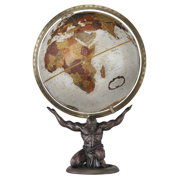 Atlas World Globe by Astoria Grand