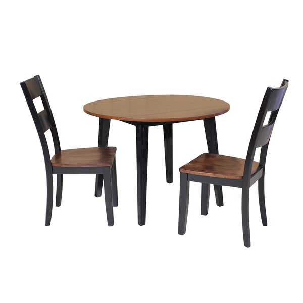 Best Design Dinh 3 Piece Drop Leaf Solid Wood Dining Set By Latitude Run Great Reviews