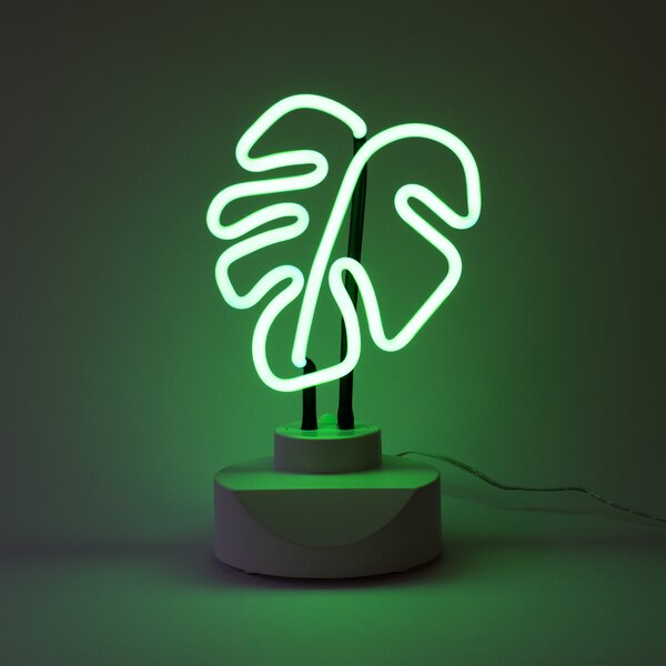 Leaf Neon Table Lamp by Oliver Gal