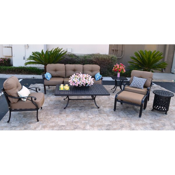 Nola 7 Piece Sunbrella Sofa Set with Cushions by Darby Home Co Darby Home Co
