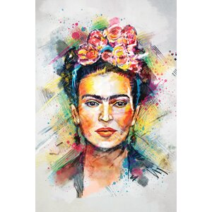 'Frida Kahlo' Graphic Art Print on Wrapped Canvas by East Urban Home