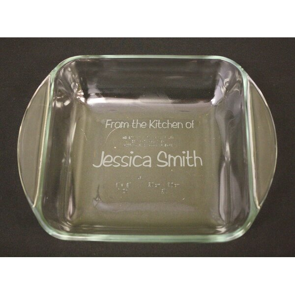 Personalized Square Baking Dish by Signature Keepsakes