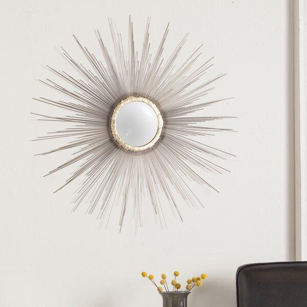 Starburst silhouette Metal Fisheye Wall Mirror by Latitude Run