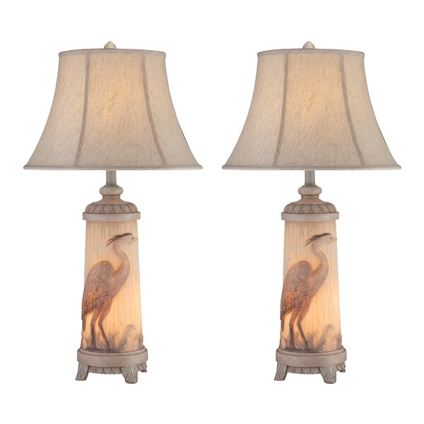 Jezebel Heron 32 Table Lamp (Set of 2) by Highland Dunes