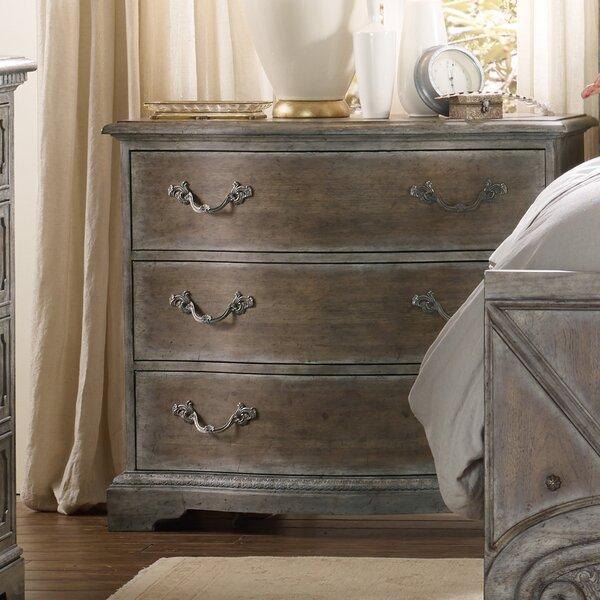 True Vintage 3 Drawer Nightstand by Hooker Furniture