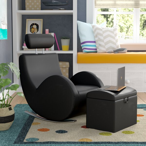 Torre Kids Rocking Chair and Ottoman with Storage Compartment by Viv + Rae