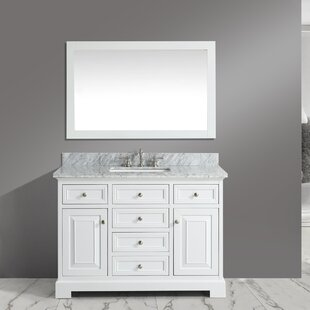 Find for Cathey 48 Single Bathroom Vanity Set with Mirror ByCharlton Home