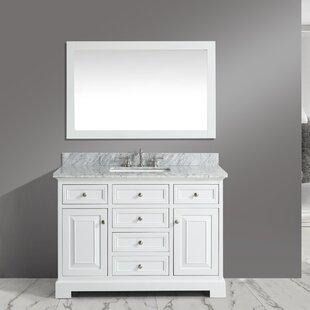 Cathey 48 Single Bathroom Vanity Set with Mirror ByCharlton Home