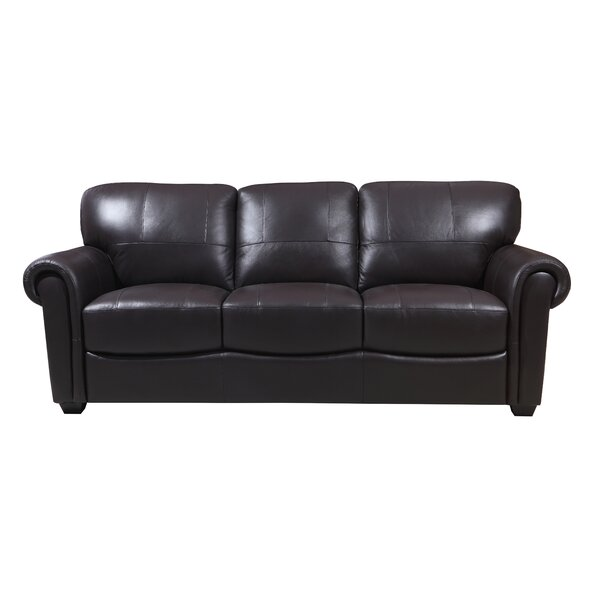 Cedrone Leather Sofa by Red Barrel Studio