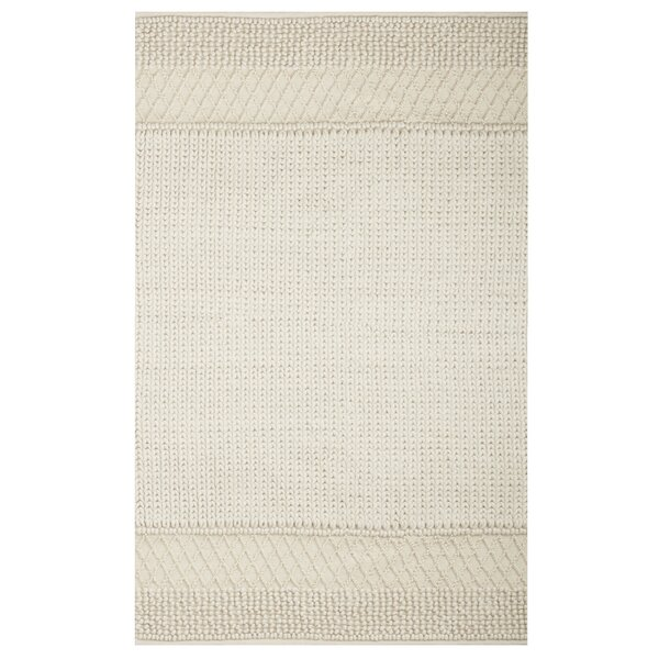 Triangle Sweater Hand-Knotted Natural Area Rug by Gracie Oaks