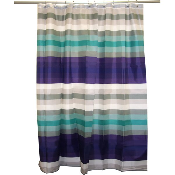 Cheer Stripe Shower Curtain by Famous Home Fashions