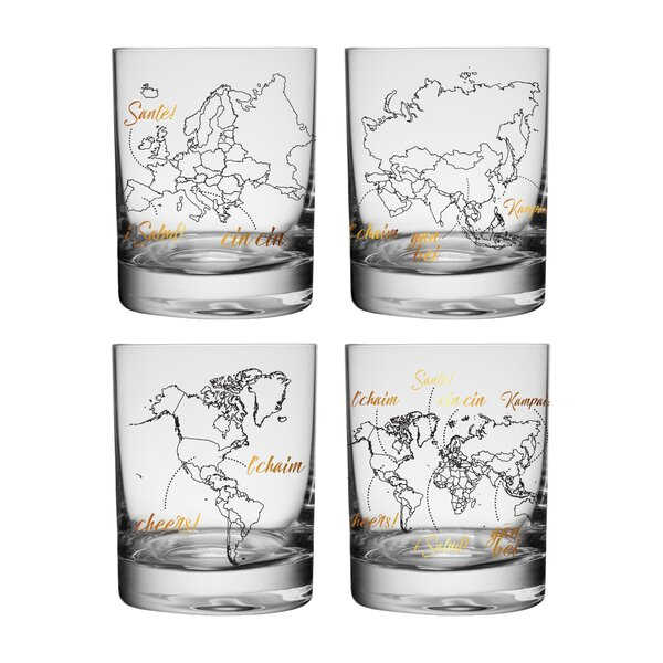 Global Cheers 4 Piece Highball Glass Set by Vandor LLC