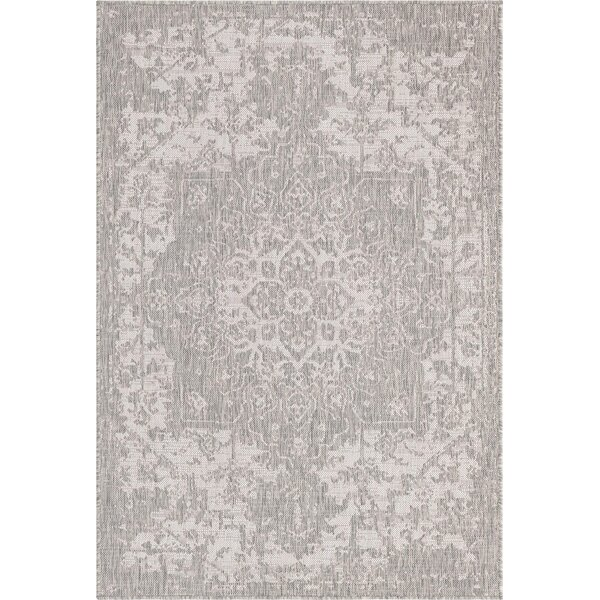 Allete Oriental Gray Indoor/Outdoor Area Rug