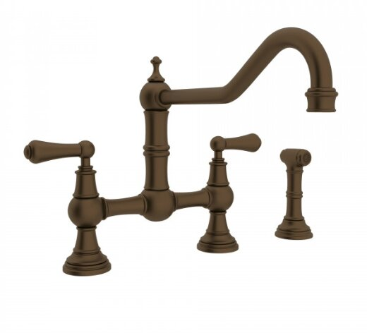Perrin and Rowe Bridge Faucet with Side Spray by Rohl