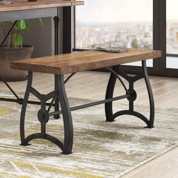 Amalda Wood and Metal Bench by Trent Austin Design