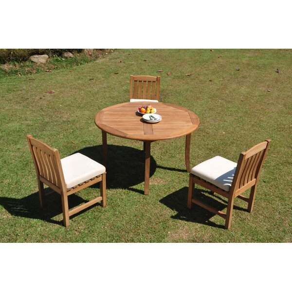 Brooklyn 4 Piece Teak Dining Set by Rosecliff Heights