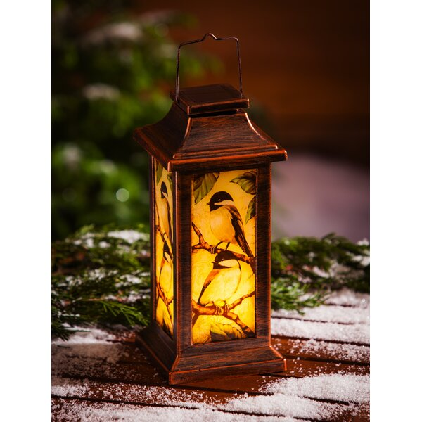 Winter Bird Solar 3 Piece Glass Lantern Set by August Grove