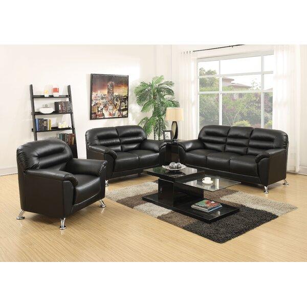 Siegfried 3 Piece Living Room Set by Orren Ellis