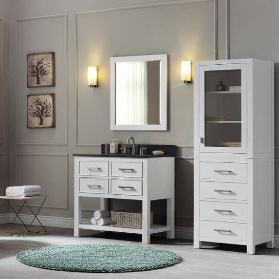 Martina 37 Single Modern Bathroom Vanity Set by Ivy Bronx