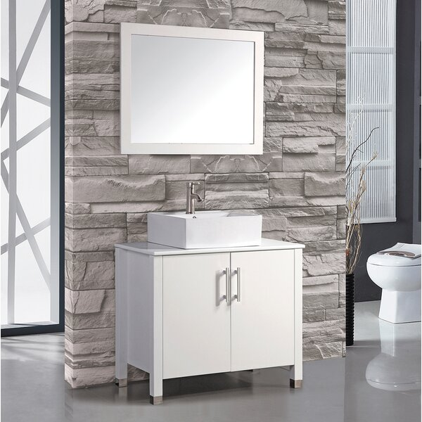 Laroche 35 Single Bathroom Vanity Set with Mirror by Latitude RunLaroche 35 Single Bathroom Vanity Set with Mirror by Latitude Run