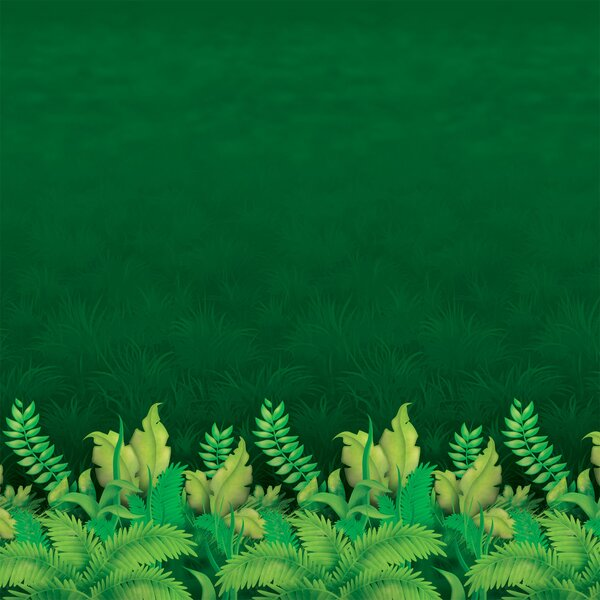 Jungle Foliage Backdrop Wall Décor by The Beistle Company
