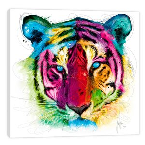 Tiger Pop by Patrice Murciano Graphic Art on Wrapped Canvas by Jaxson Rea