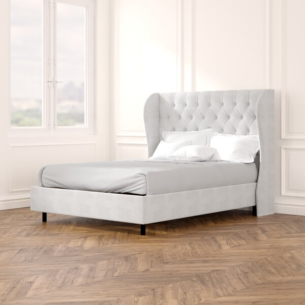 Alcantara Diamond Upholstered Standard Bed by Willa Arlo Interiors
