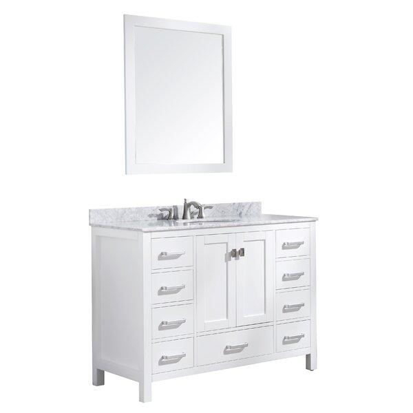 Tia 48 Single Bathroom Vanity Set with Mirror by Brayden Studio