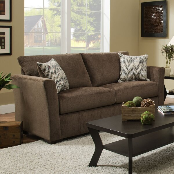 Simmons Upholstery Chestnut Solid Sofa by Winston Porter