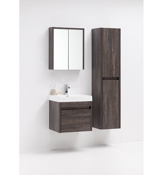 Rosas 24 Wall-Mounted Single Bathroom Vanity by Wrought Studio