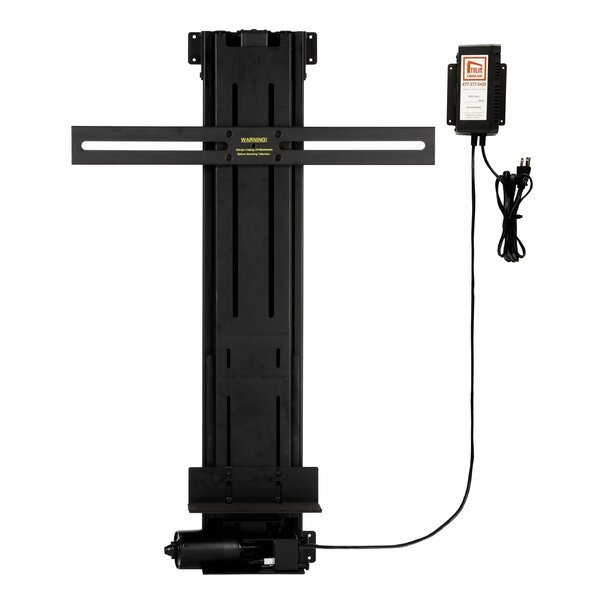TV Lift Mechanism Pole Mount for 13-25 Tall Flat/Curved Panel by TVLIFTCABINET, Inc