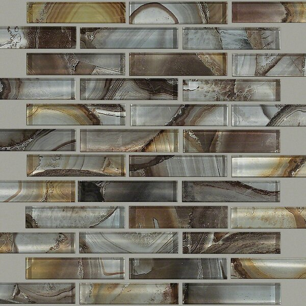 Neptune 2 x 4 Glass Mosaic Tile in Pewter by Shaw Floors