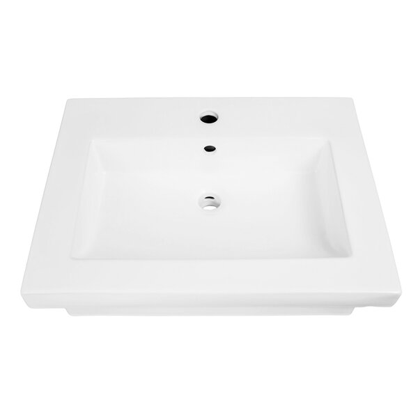 Lilac Classically Redefined Lavatory 24 Wall Mount Bathroom Sink with Overflow by DECOLAV
