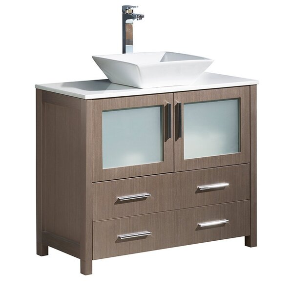 Torino 36 Single Bathroom Vanity Set by Fresca