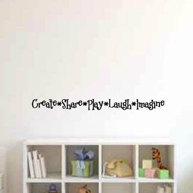 Lizzie Create Share Play Laugh Imagine Wall Decal by Zoomie Kids