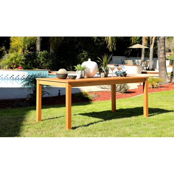 Aryanna Solid Wood Dining Table by Rosecliff Heights
