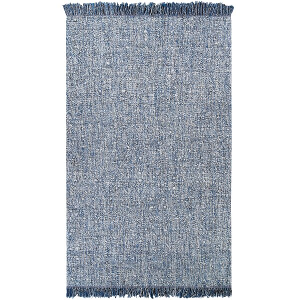 Carin Handwoven Flatweave Blue Area Rug by Gracie Oaks