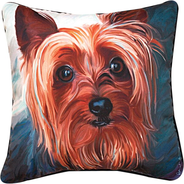 Yorkie Style Yorkie Throw Pillow by Manual Woodworkers & Weavers