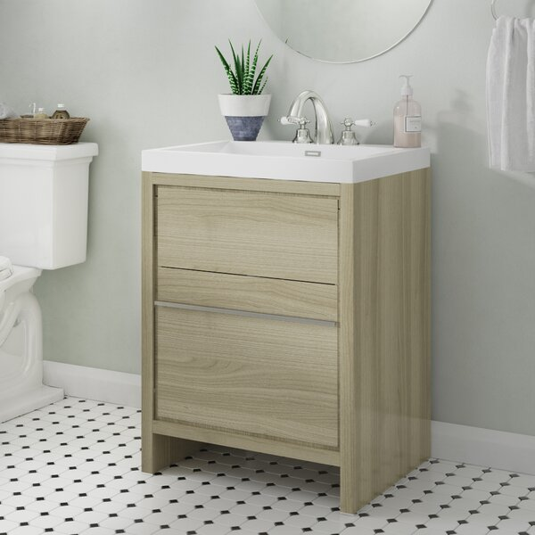Garett Modern 24 Single Bathroom Vanity Set by Wade Logan