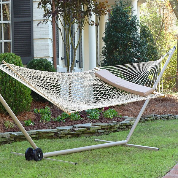 Tabor Double Spreader Bar Hammock by Rosecliff Heights