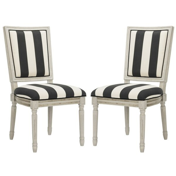 Rosemary French Brasserie Upholstered Dining Chair by One Allium Way