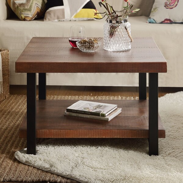 Twitchell Floor Shelf Coffee Table with Storage by Union Rustic Union Rustic