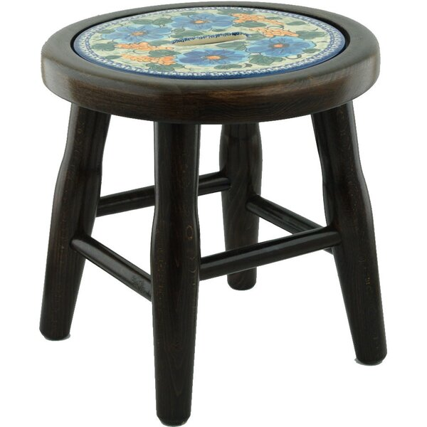 Corn Polish Pottery Accent Stool by Polmedia