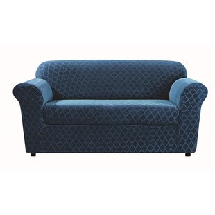 Stretch Grand Marrakesh Box Cushion Loveseat Slipcover by Sure Fit