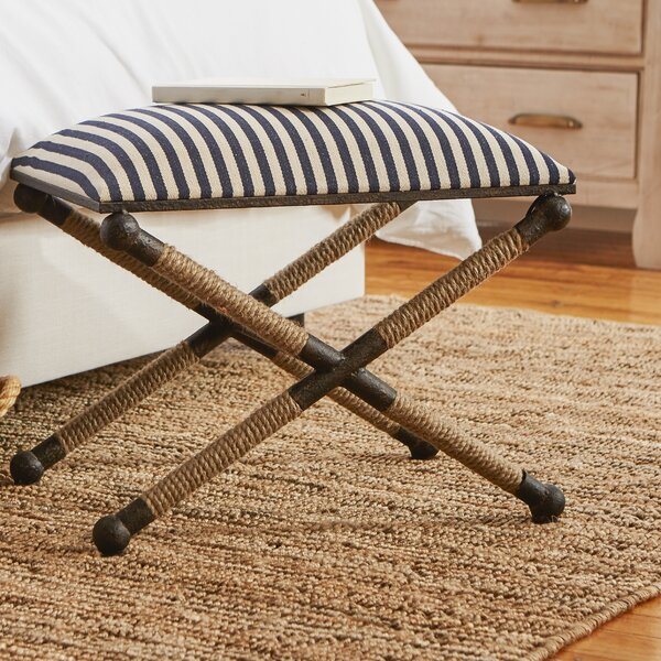 Brunon Upholstered Vanity Stool by Beachcrest Home